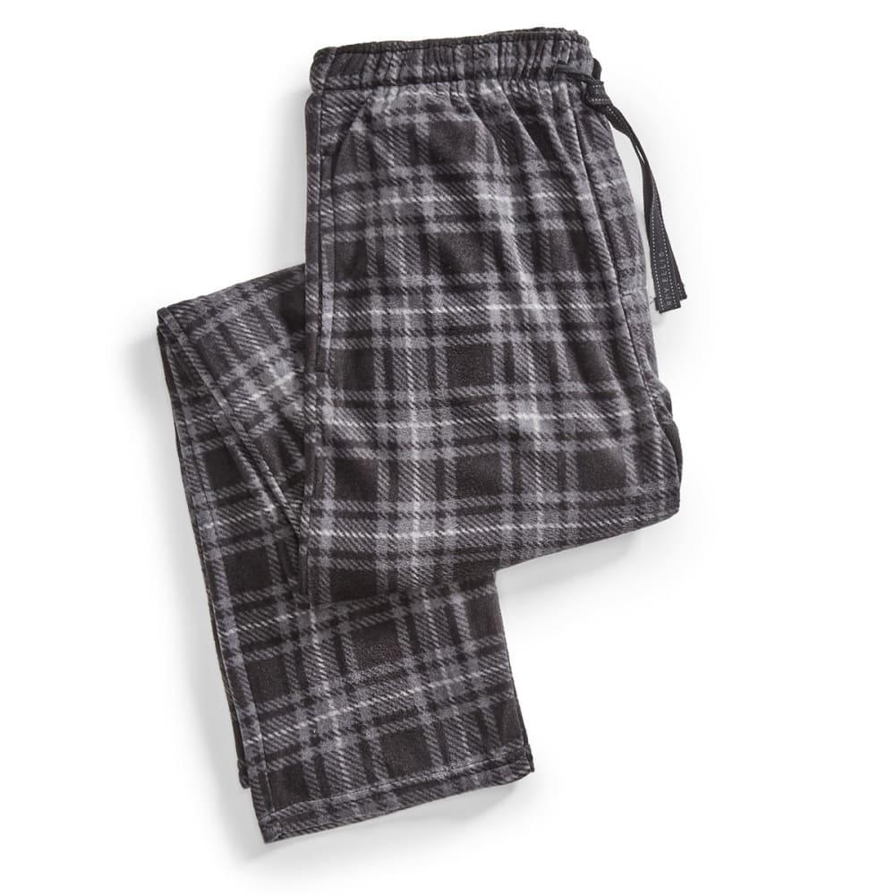 Men's Mountain Pattern Microfleece Lounge Pants - BLACK 962