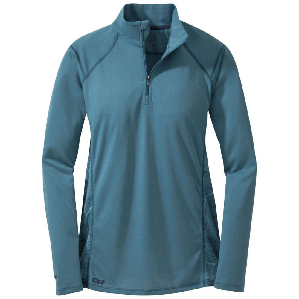OUTDOOR RESEARCH Women's Essence Long Sleeve Zip Top - OASIS/NIGHT
