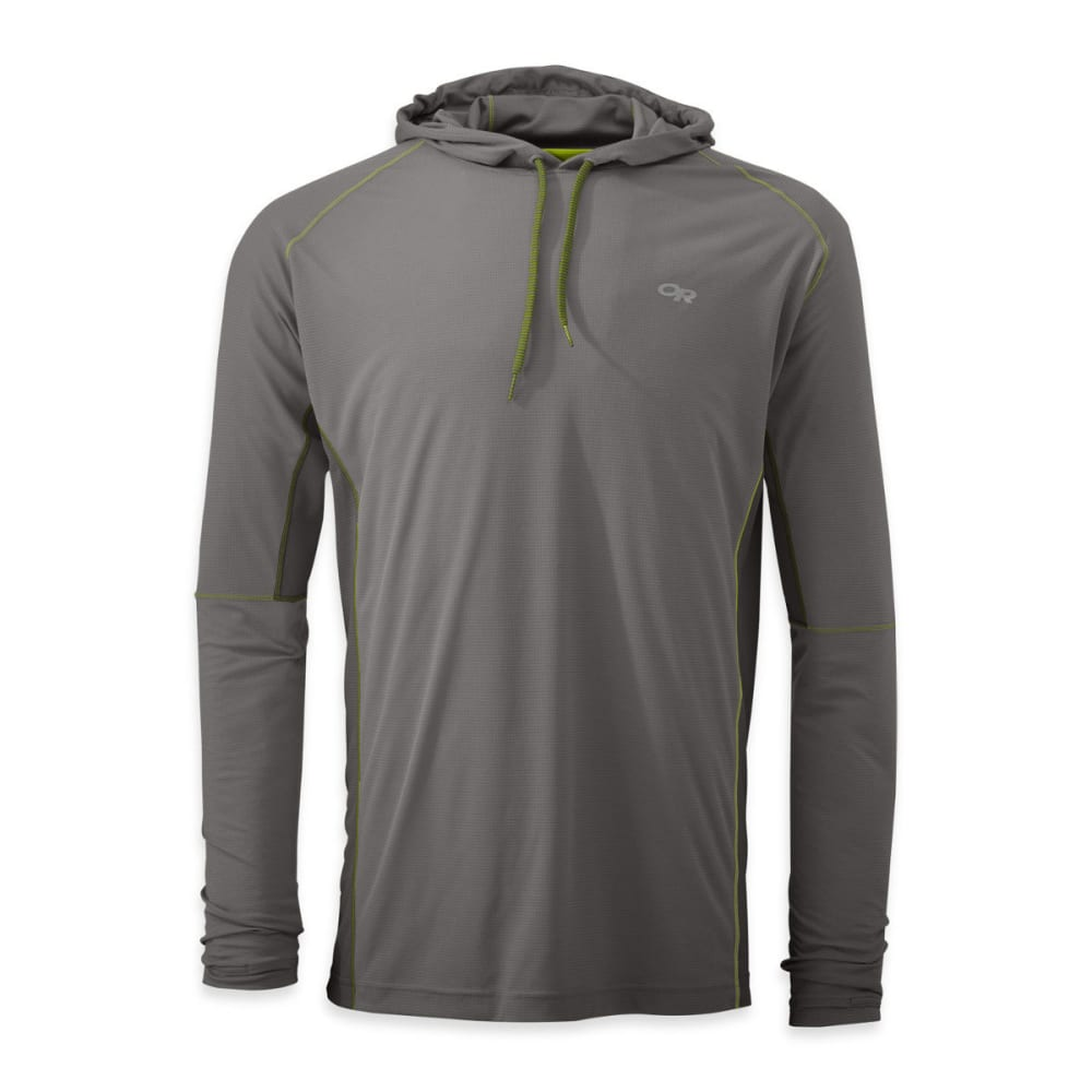 OUTDOOR RESEARCH Men's Echo Hoody - PEWTER/LEMONGRASS