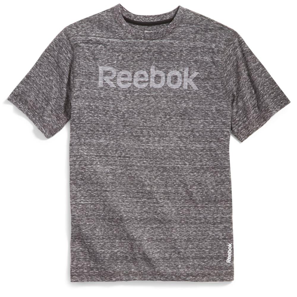 REEBOK Men's Ghost Logo Short-Sleeve Tee - CHARCOAL HTR-R157