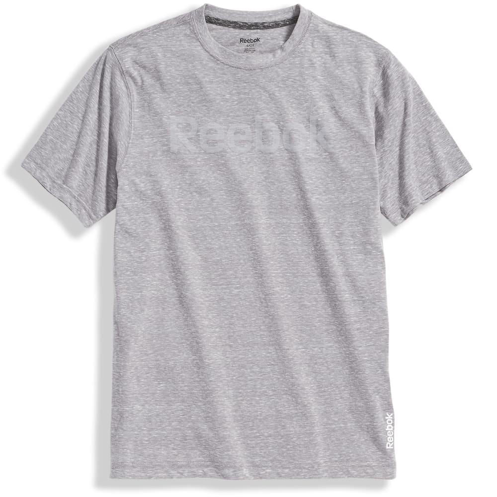 REEBOK Men's Ghost Logo Short-Sleeve Tee - GREY HTR-R144