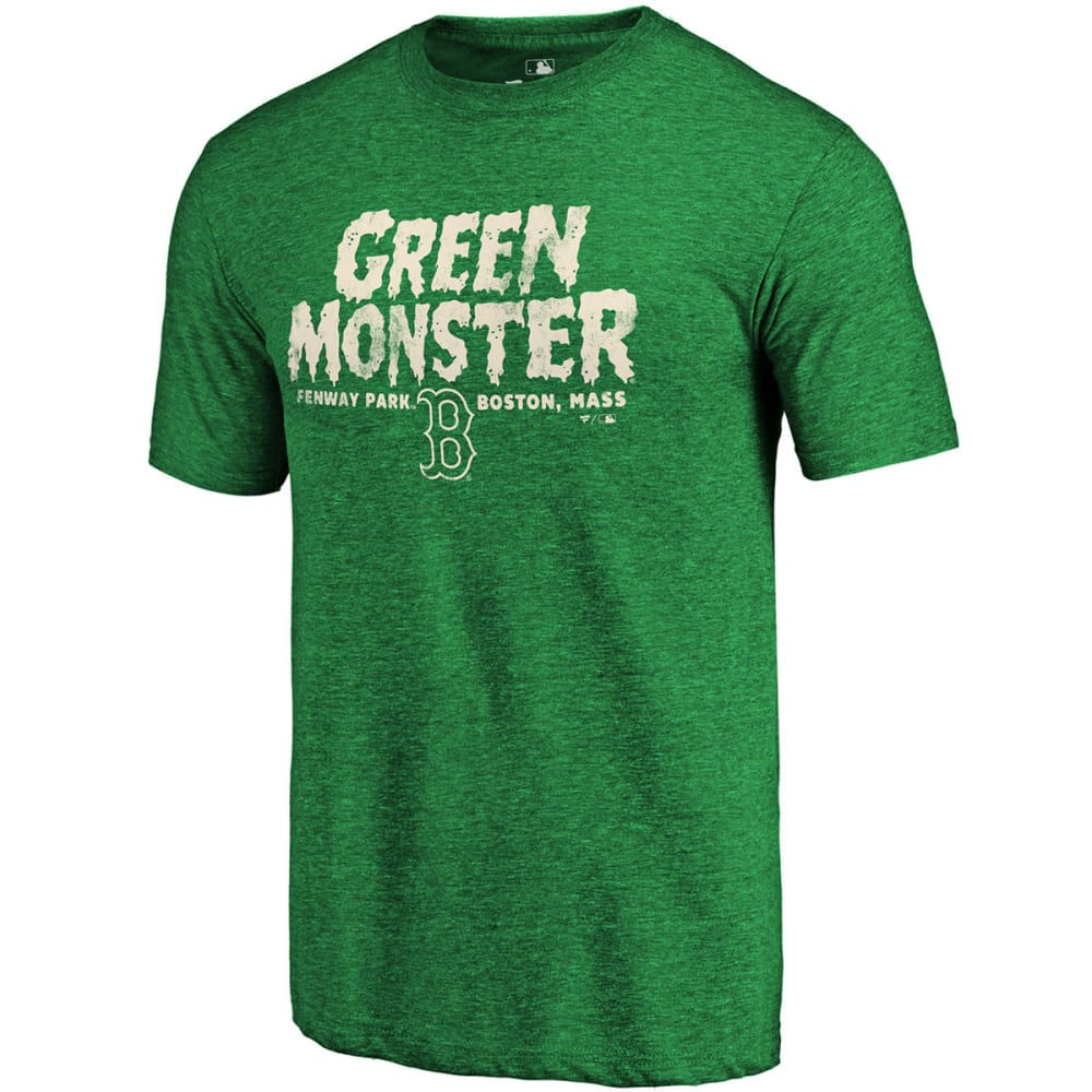 BOSTON RED SOX Men's Green Monster Tri-Blend Short-Sleeve Tee - GREEN