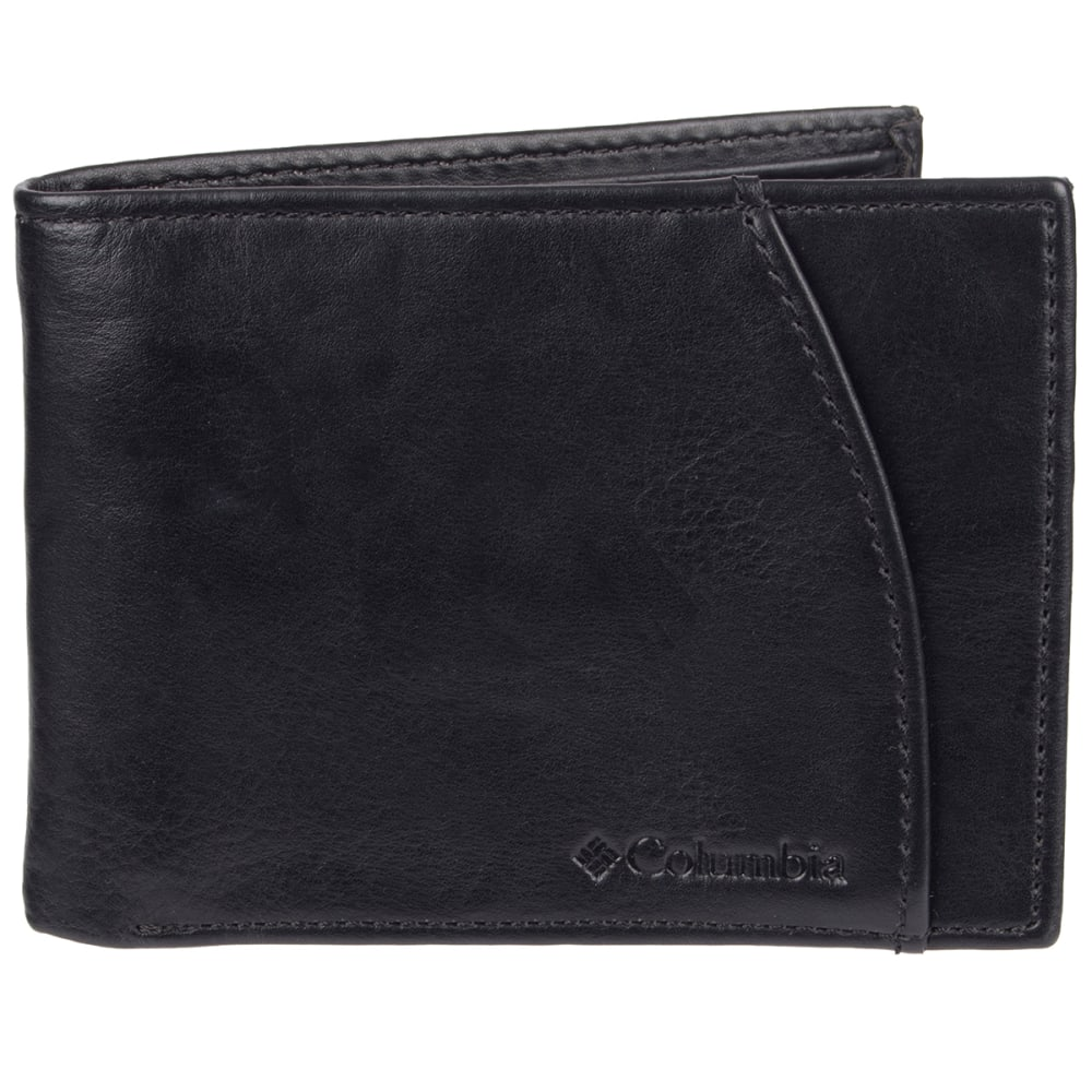 COLUMBIA Men's Extra-Capacity RFID-Blocking Slimfold Wallet - BLACK 001