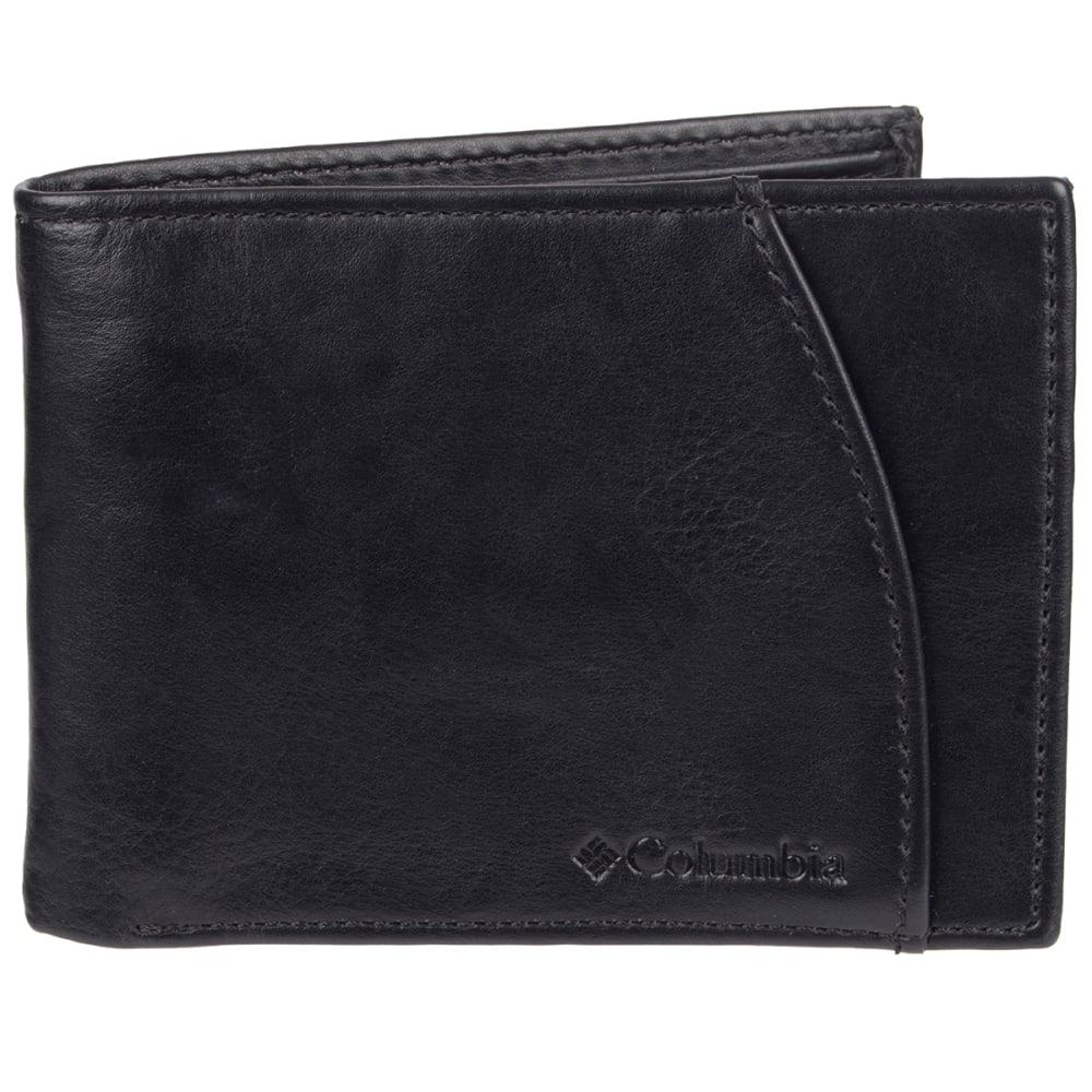 COLUMBIA Men's Extra-Capacity RFID-Blocking Slimfold Wallet - BLACK 001