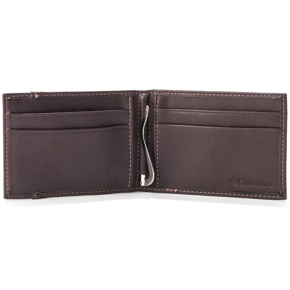 COLUMBIA Men's RFID Front Pocket Wallet - BROWN 200