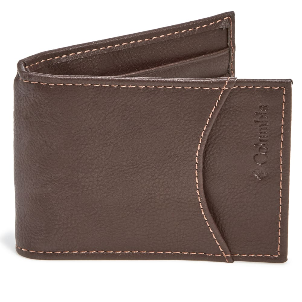 COLUMBIA Men's RFID Front Pocket Wallet - BROWN 200