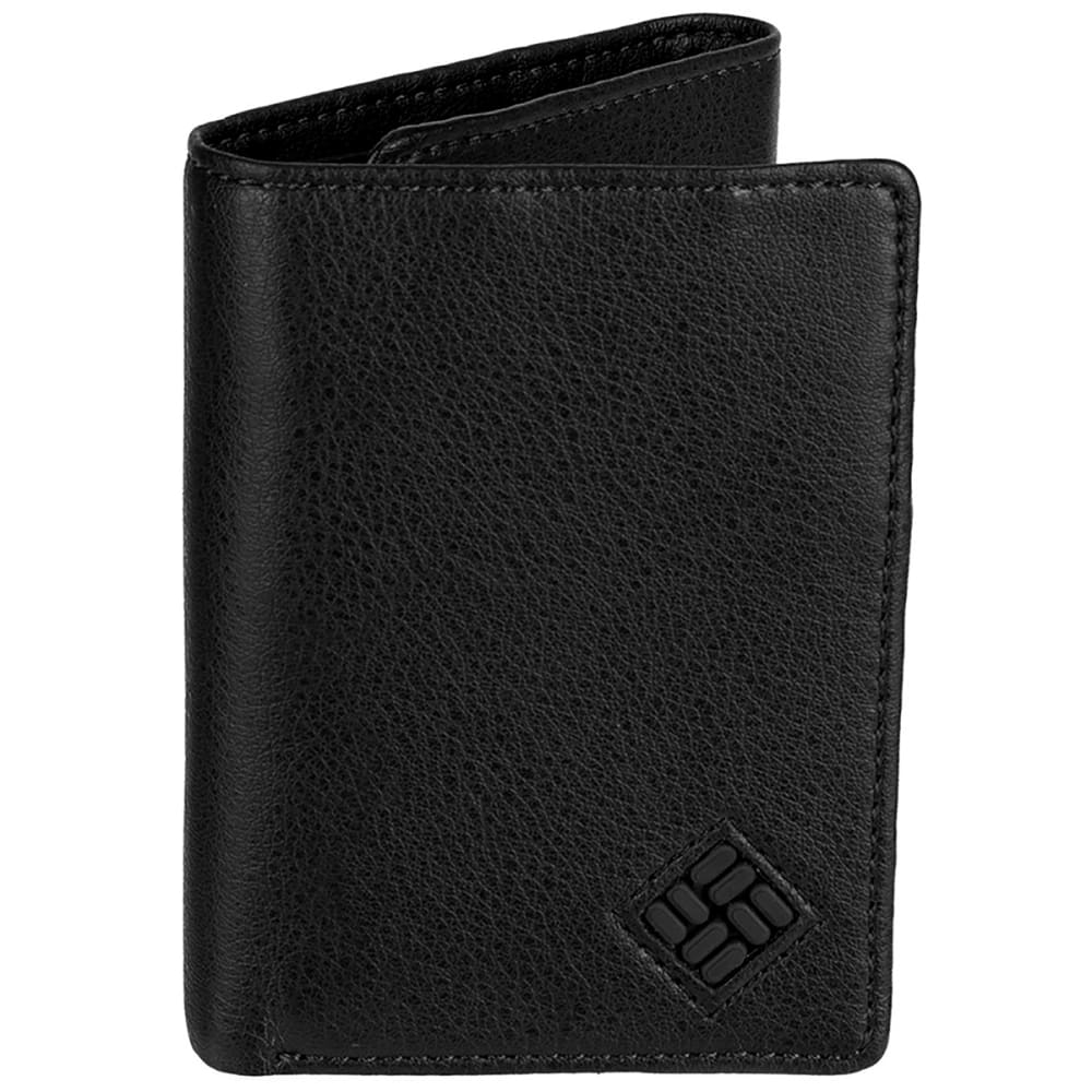 Columbia Men's Rfid Blocking Trifold Security Wallet - Black, ONESIZE