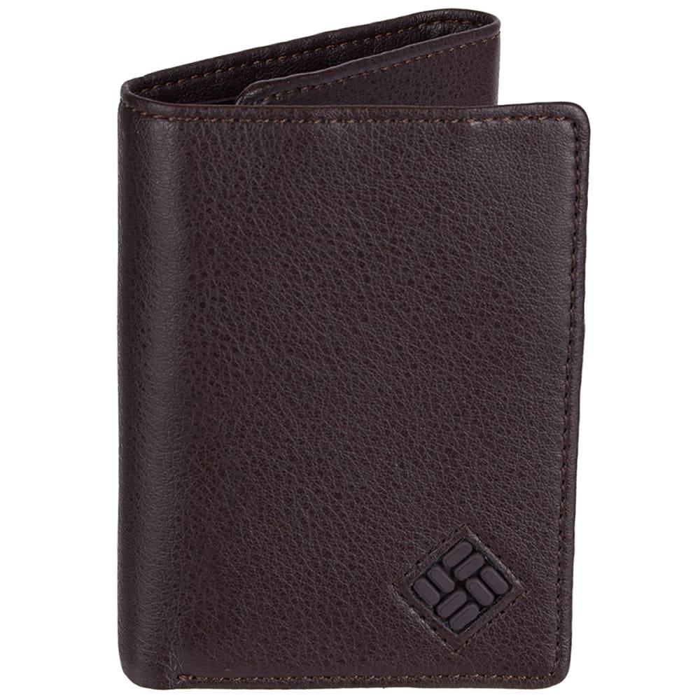 Columbia Men's Rfid Blocking Trifold Security Wallet - Brown, ONESIZE