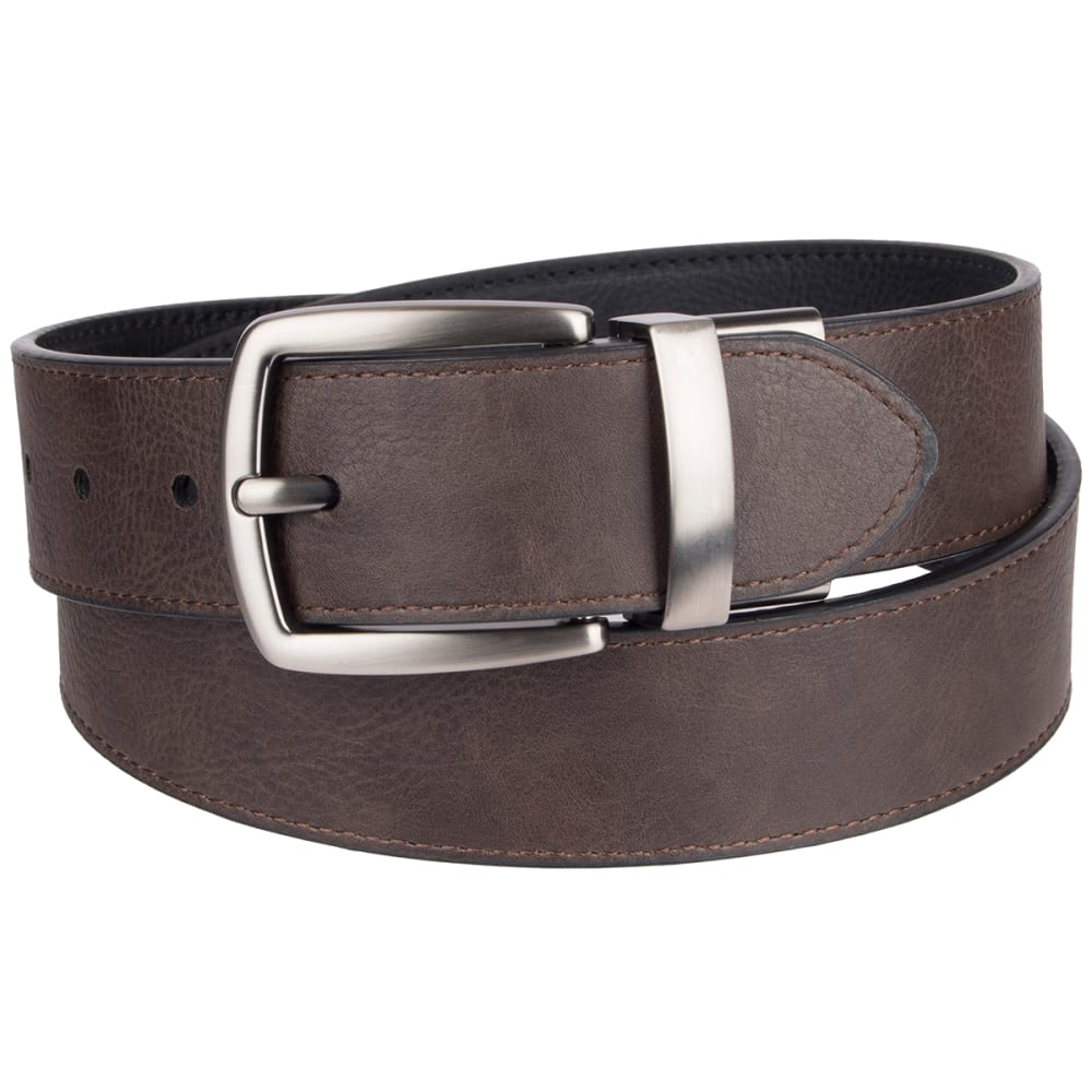 COLUMBIA Men's 38MM Cut Edge Reversible Belt - BLACK/BROWN 014