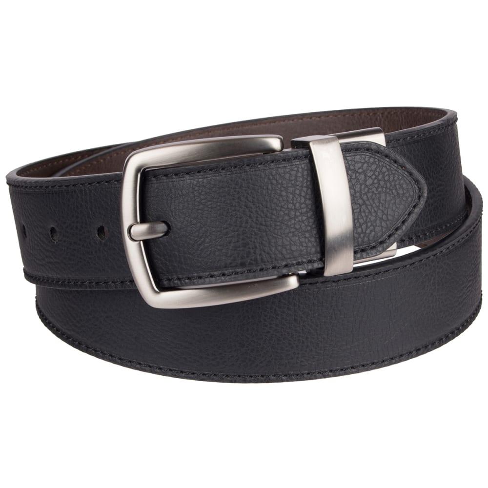 COLUMBIA Men's 38MM Cut Edge Reversible Belt - BLACK/BROWN 014