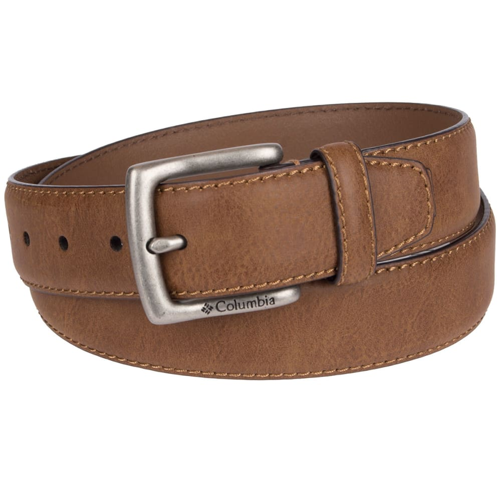 Columbia Men's 38 Mm Drop Edge With Tab Belt - Brown, 32