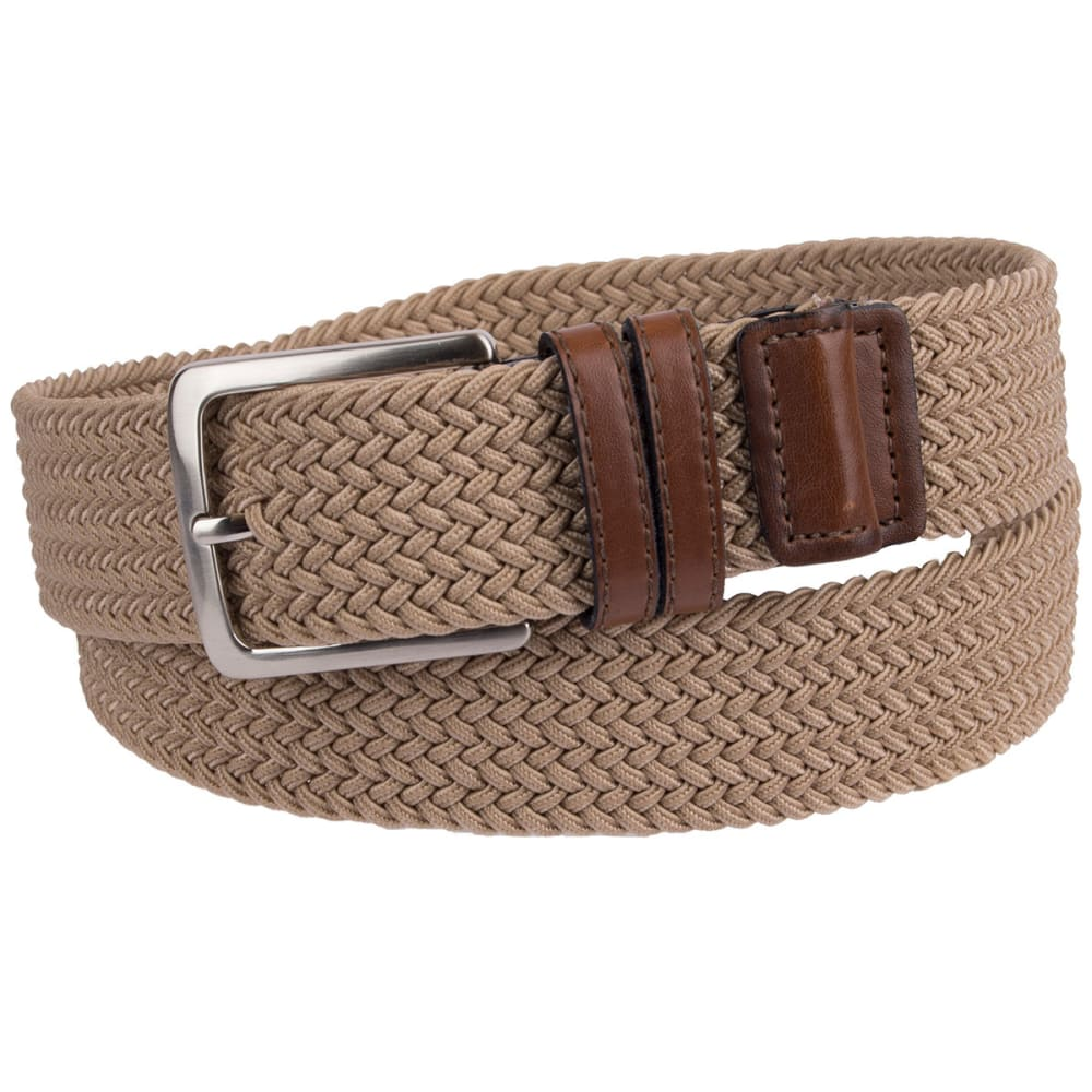 Dockers Men's Stretch Fabric Braid Belt - Brown, S