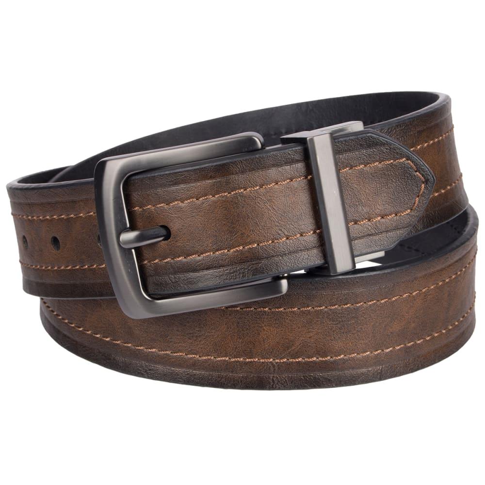 LEVI Men's 40 MM Reversible Belt - BROWN/BLK 206