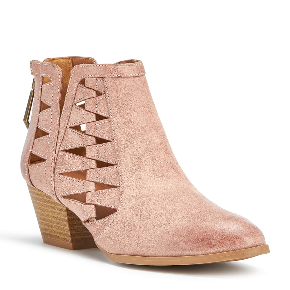 QUPID Women's Travis-03 Cutout Booties, Blush - BLUSH