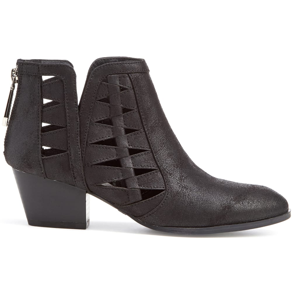 QUPID Women's Travis-03 Cutout Booties, Black - BLACK