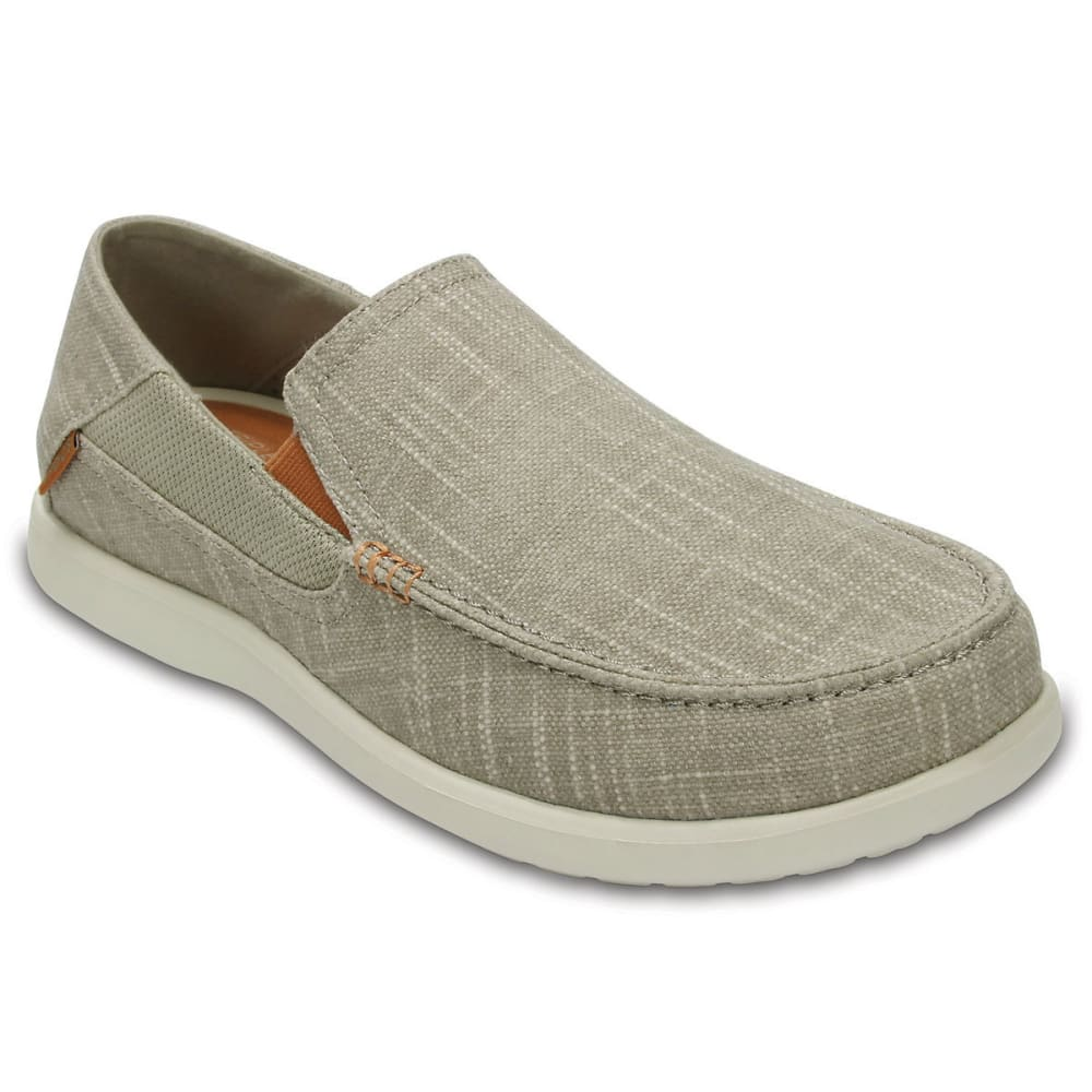 CROCS Men's Santa Cruz II Luxe Slub Slip-On Shoes - KHAKI