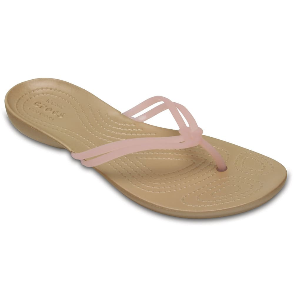 Crocs Women's Isabella Flip Flops, Apc/gold - Yellow, 7