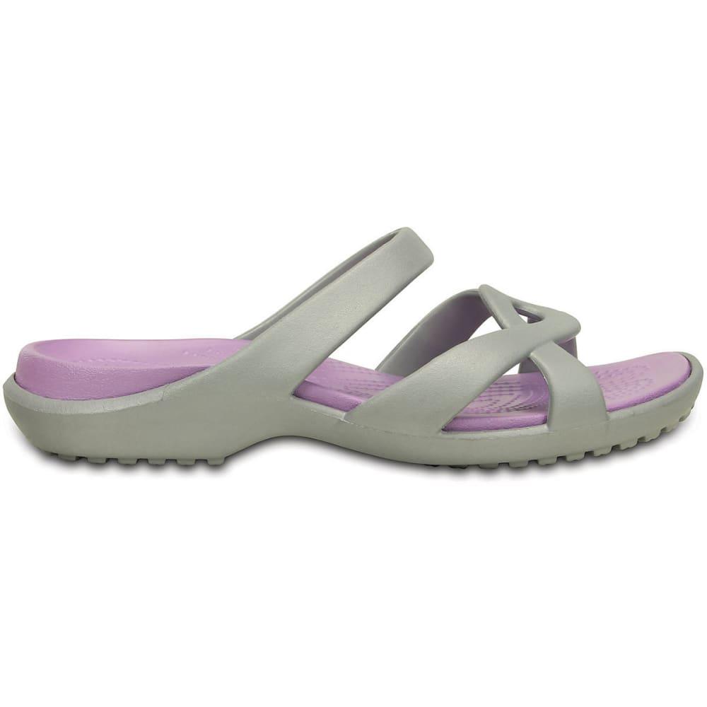 CROCS Women's Meleen Twist Sandals, Silver/Iris - SILVER/IRIS