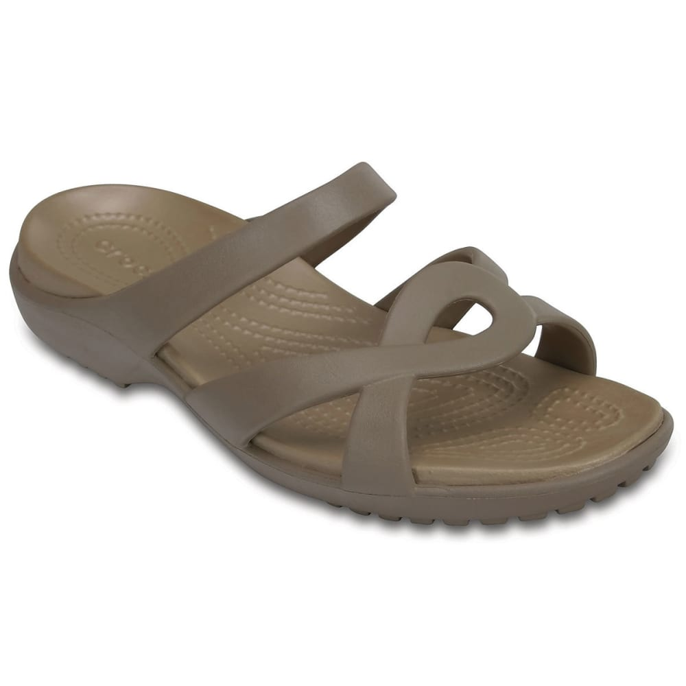 Crocs Women's Meleen Twist Sandals, Mushroom/gold - Brown, 10