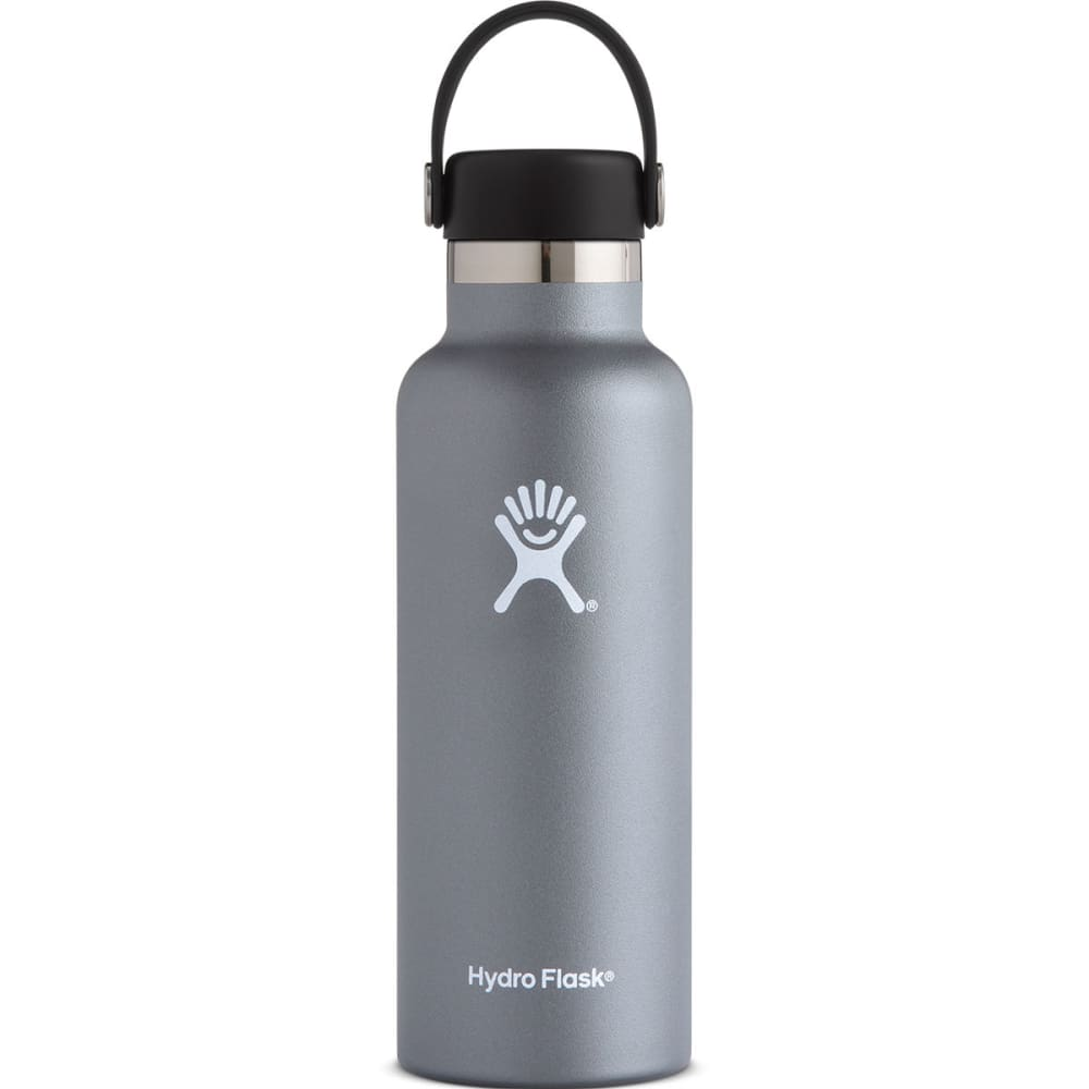 HYDRO FLASK 18 oz. Standard Mouth Water Bottle with Flex Cap - GRAPHITE S18SX050