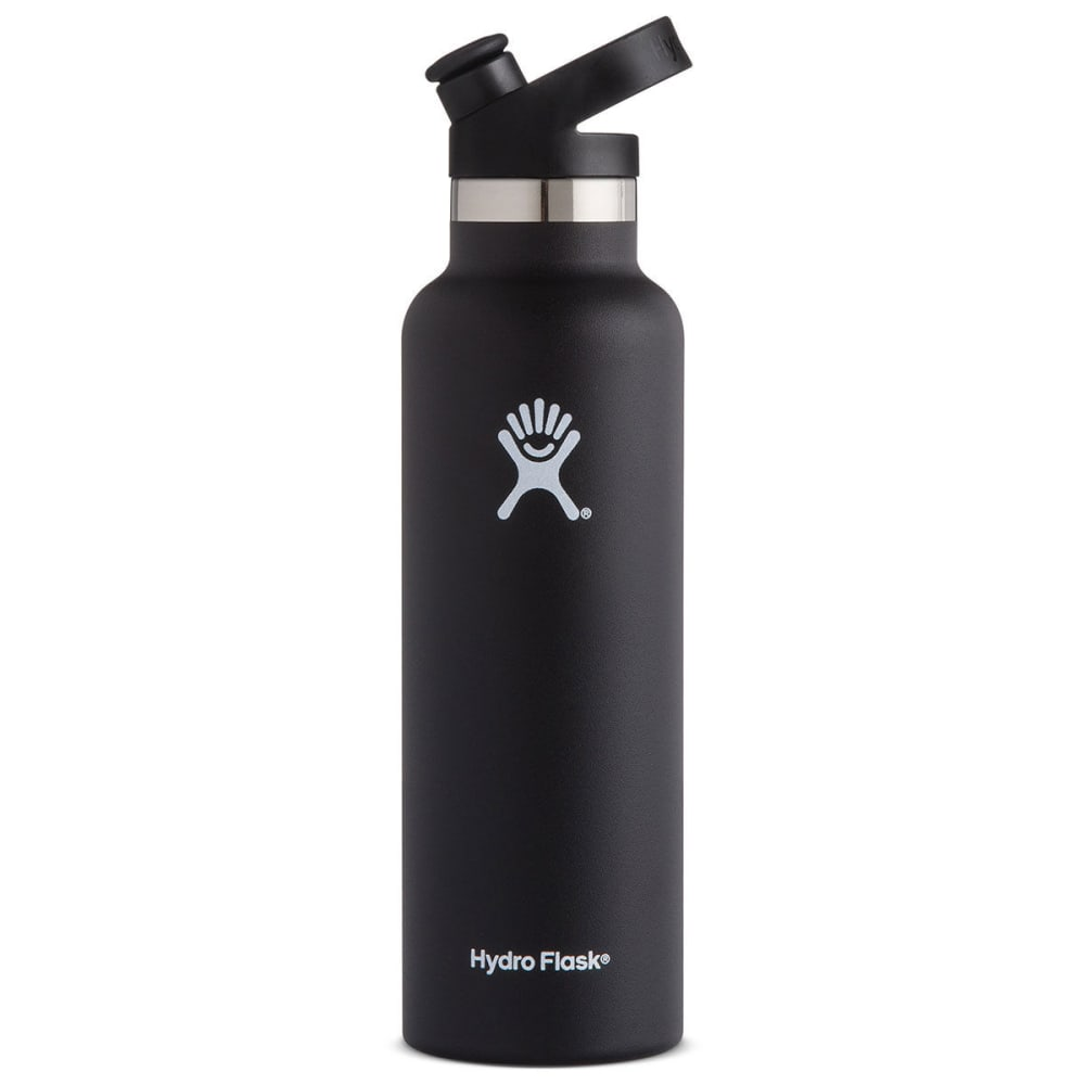 HYDRO FLASK 21 oz. Standard Mouth Water Bottle with Sport Cap - BLACK S21ST001
