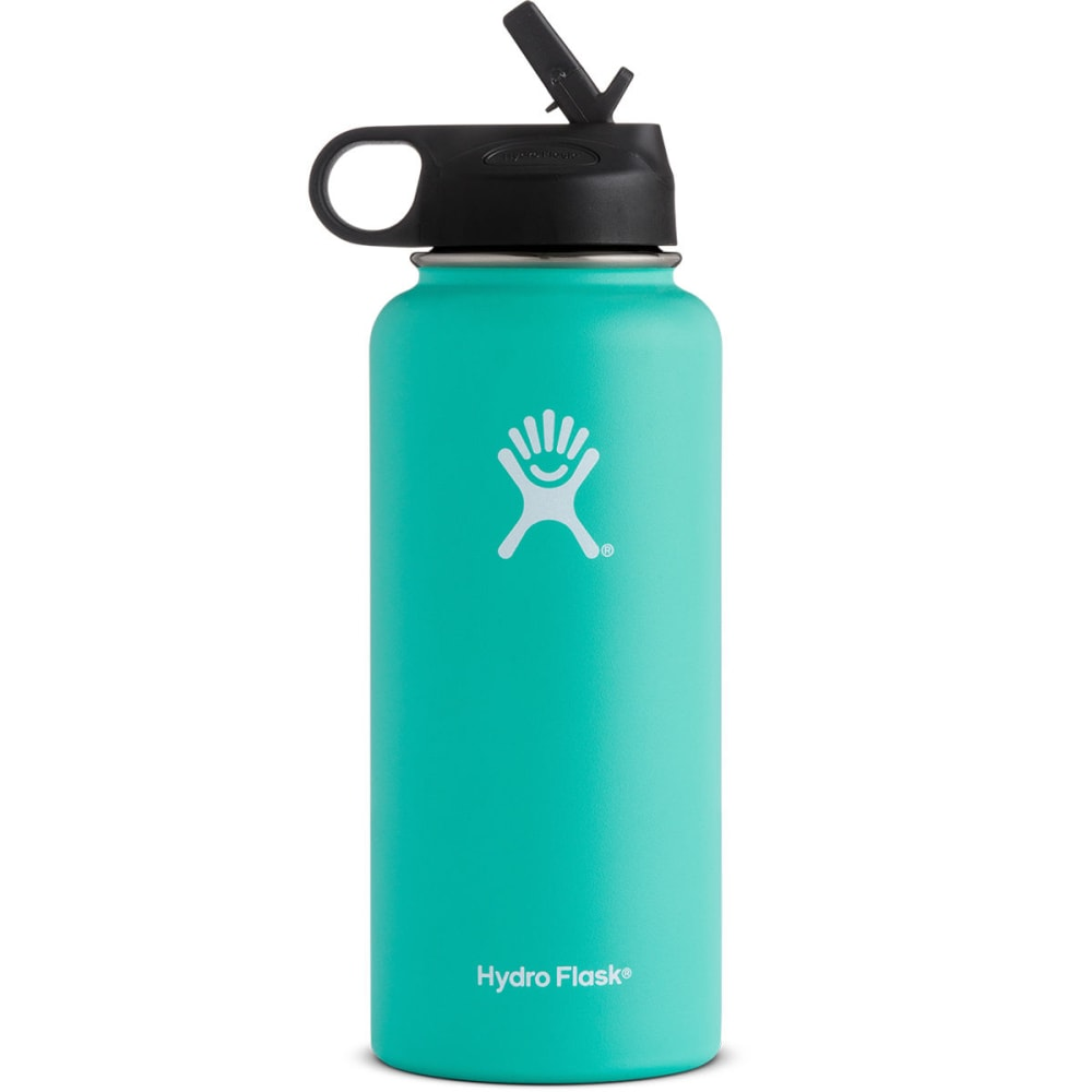 HYDRO FLASK 32 oz. Wide Mouth Water Bottle with Straw Lid - MINT W32SW435