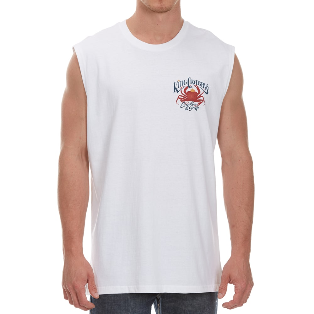 NEWPORT BLUE Men's King Crabby's Muscle Tank - WHITE - 120