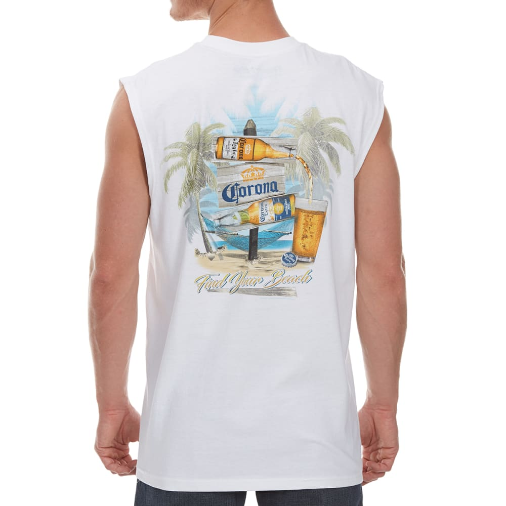 NEWPORT BLUE Men's Destination Corona Muscle Tank - WHITE - 120