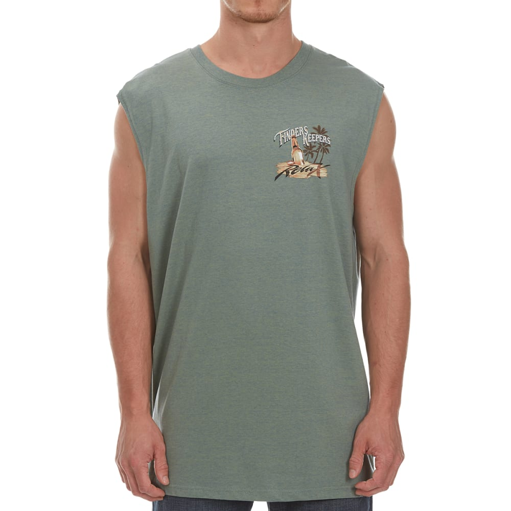 NEWPORT BLUE Men's Finders Keepers Muscle Tank - HTR HEDGE GRN-314
