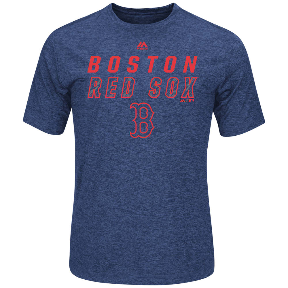 BOSTON RED SOX Men's Scoreboard Lash Poly Short-Sleeve Tee - NAVY