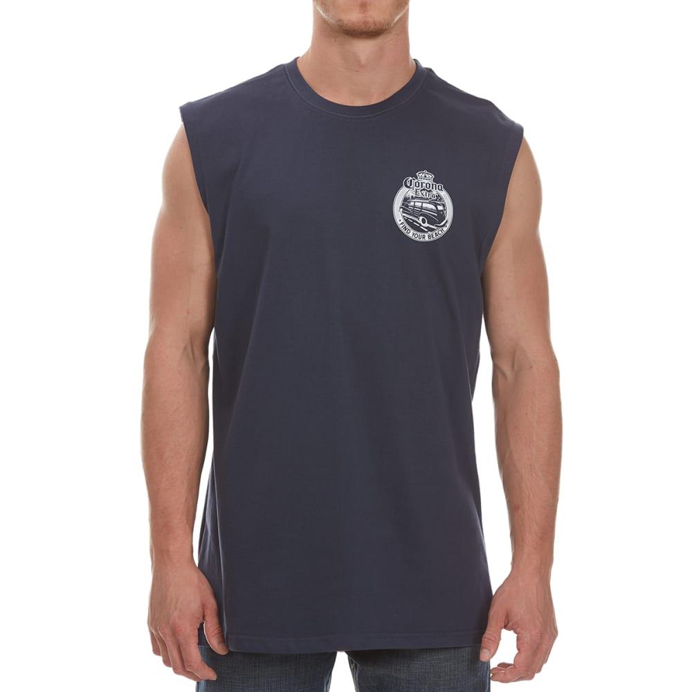 NEWPORT BLUE Men's Corona Woodie Muscle Tee - INK-0025