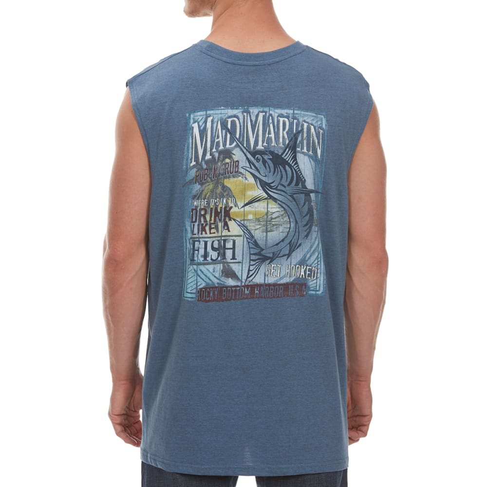 NEWPORT BLUE Men's Mad Marlin Muscle Tee - HTR OCEAN-0496