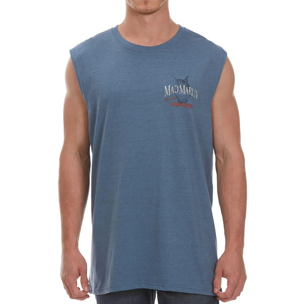 NEWPORT BLUE Men's Mad Marlin Muscle Tee - HTR OCEAN-0496