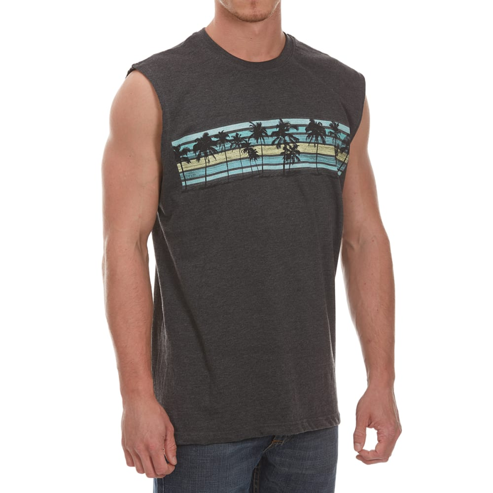 NEWPORT BLUE Men's Banded Palm Muscle Tee - CHR HTR-0022