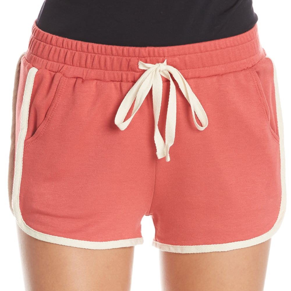 TRESICS LUXE Juniors' Contrast Shorts - POTTER'S CLAY