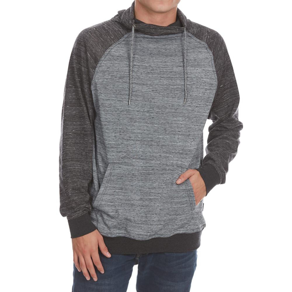 OCEAN CURRENT Guys' Ryan Cowl Neck Raglan Pullover - BLACK