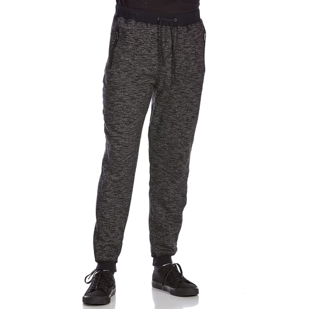 OCEAN CURRENT Guys' Display Zipper Jogger Pants - BLACK