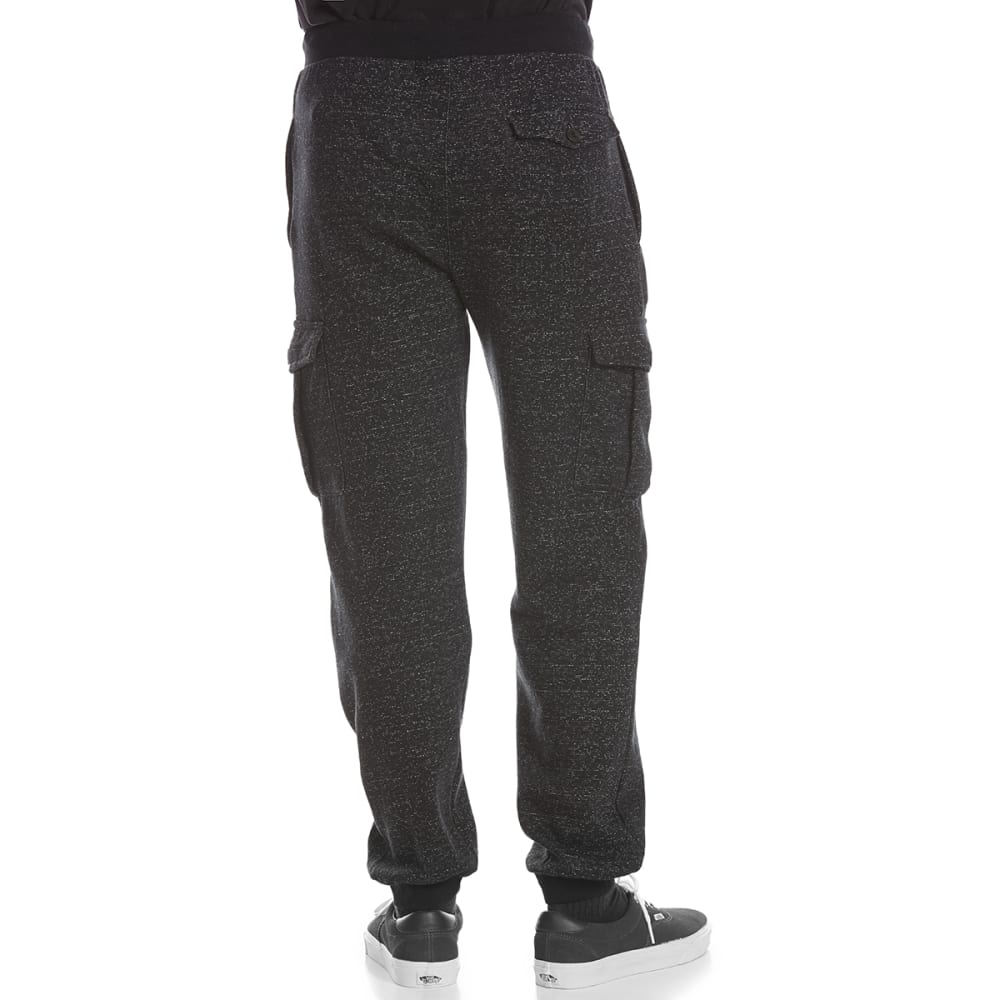 OCEAN CURRENT Guys' Llewyn Dot Fleece Cargo Sweatpants - BLACK