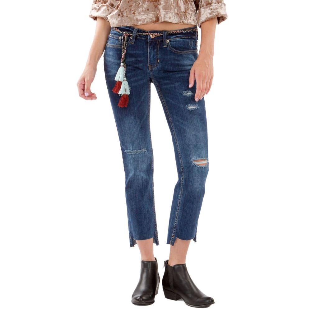 UNIONBAY Juniors' Jake Destructed Step Hem Cropped Jeans - 420J-SIREN