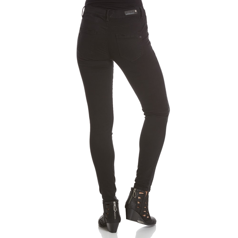 UNIONBAY Juniors' Karma Desert Twill 5-Pocket Skinny Pants - 001J-BLACK
