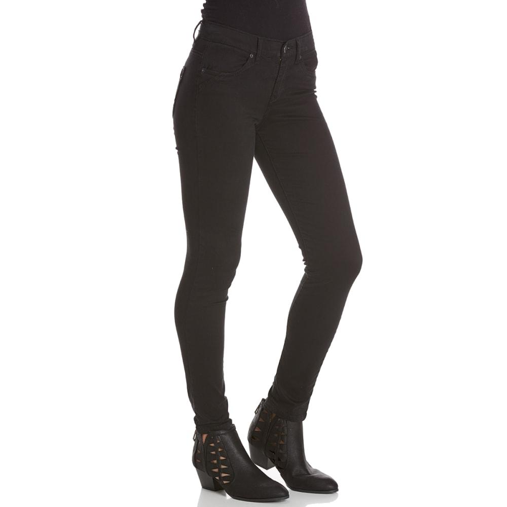 UNIONBAY Juniors' Karma Desert Twill 5-Pocket Skinny Pants - 001J-BLACK
