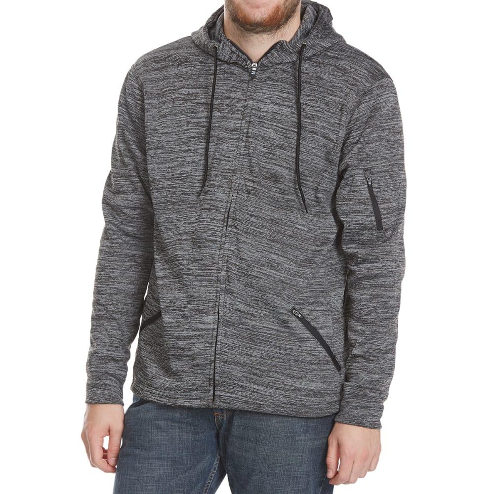 BURNSIDE Guys' Split Fleece Full-Zip Hoodie - H-CHAR