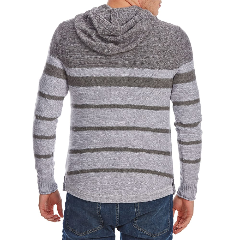 RETROFIT Guys' Hooded Striped Pullover Sweater - SILVER