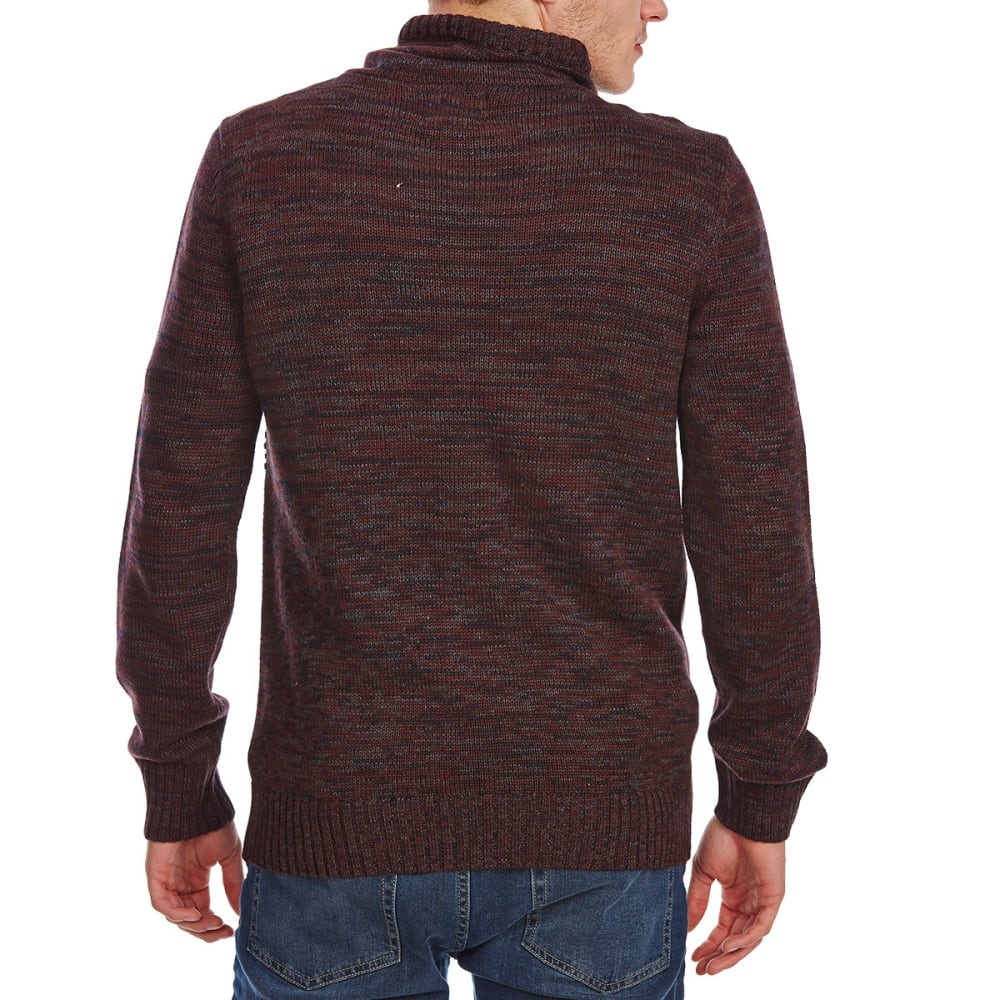 RETROFIT Guys' Crossover Funnel Neck Long-Sleeve Sweater - AUBERGENE