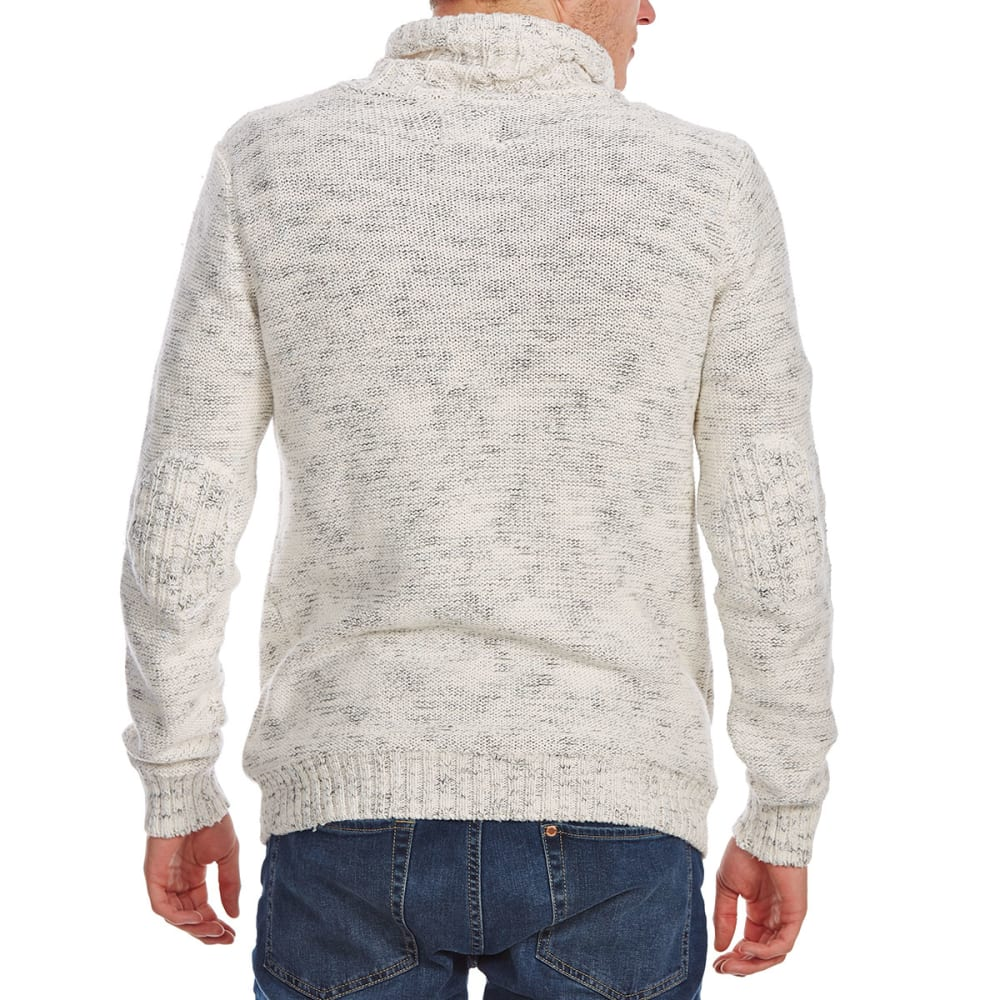RETROFIT Guys' Crossover Funnel Neck Long-Sleeve Sweater - CREAM
