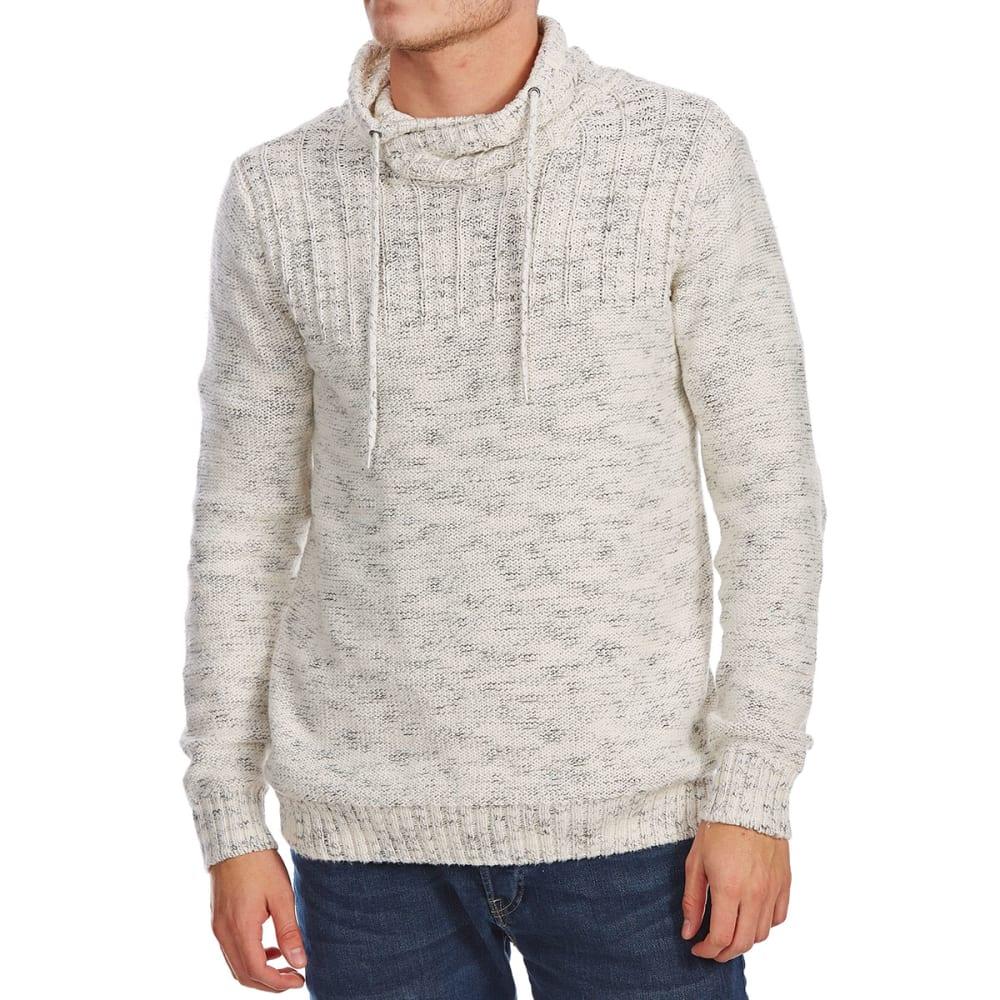 RETROFIT Guys' Crossover Funnel Neck Long-Sleeve Sweater - CREAM