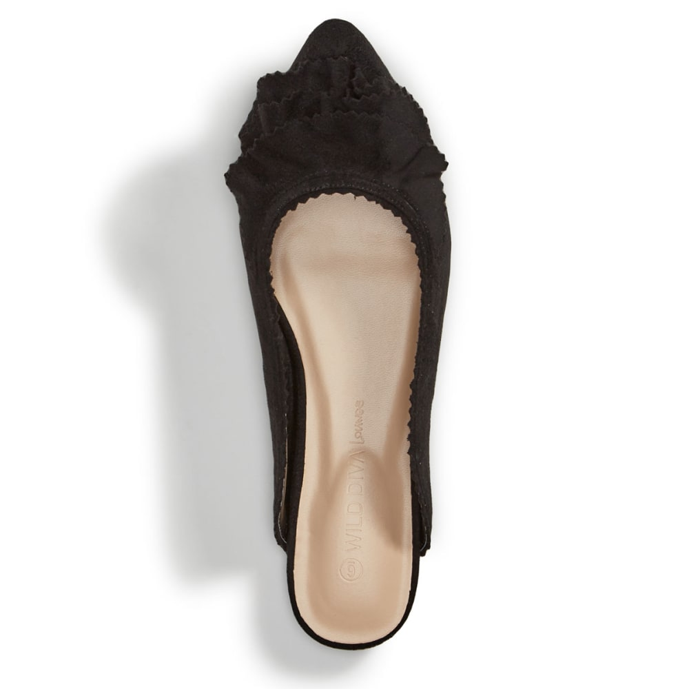 WILD DIVA Women's Pippa-239 Mules, Black - BLACK