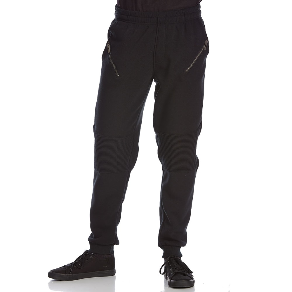 BLUE GEAR Guys' Moto Jogger Sweatpants - BLACK