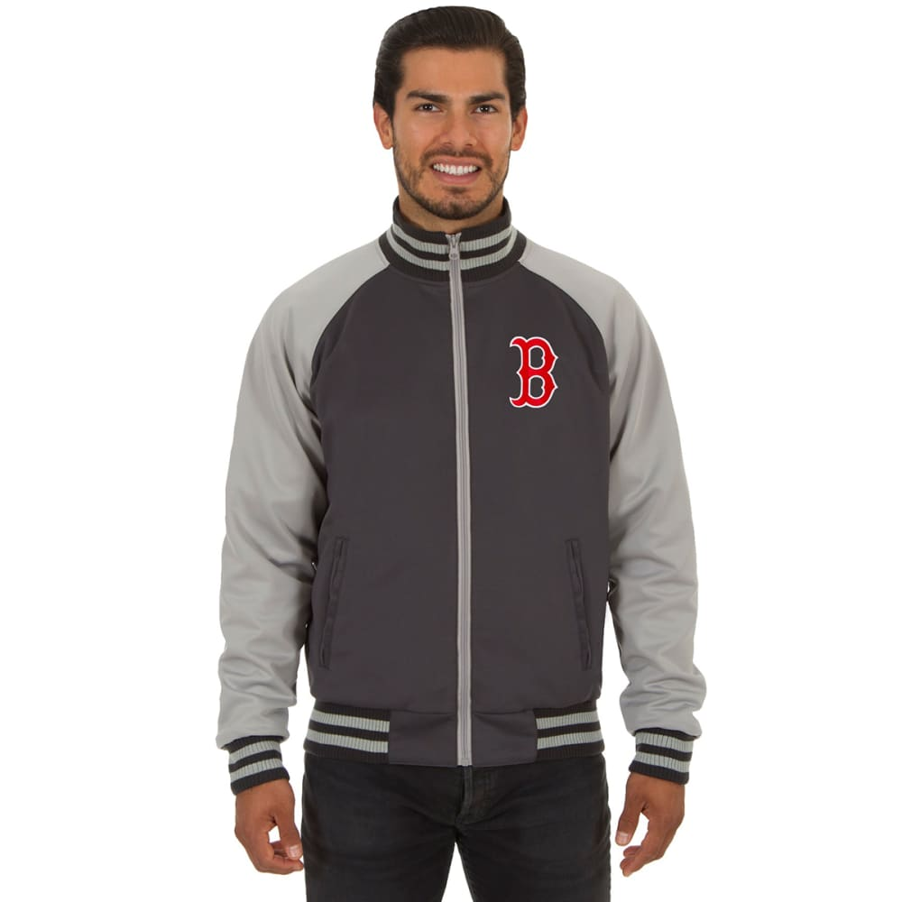 BOSTON RED SOX Men's Reversible Track Jacket with Embroidered Logo - GREY/RED