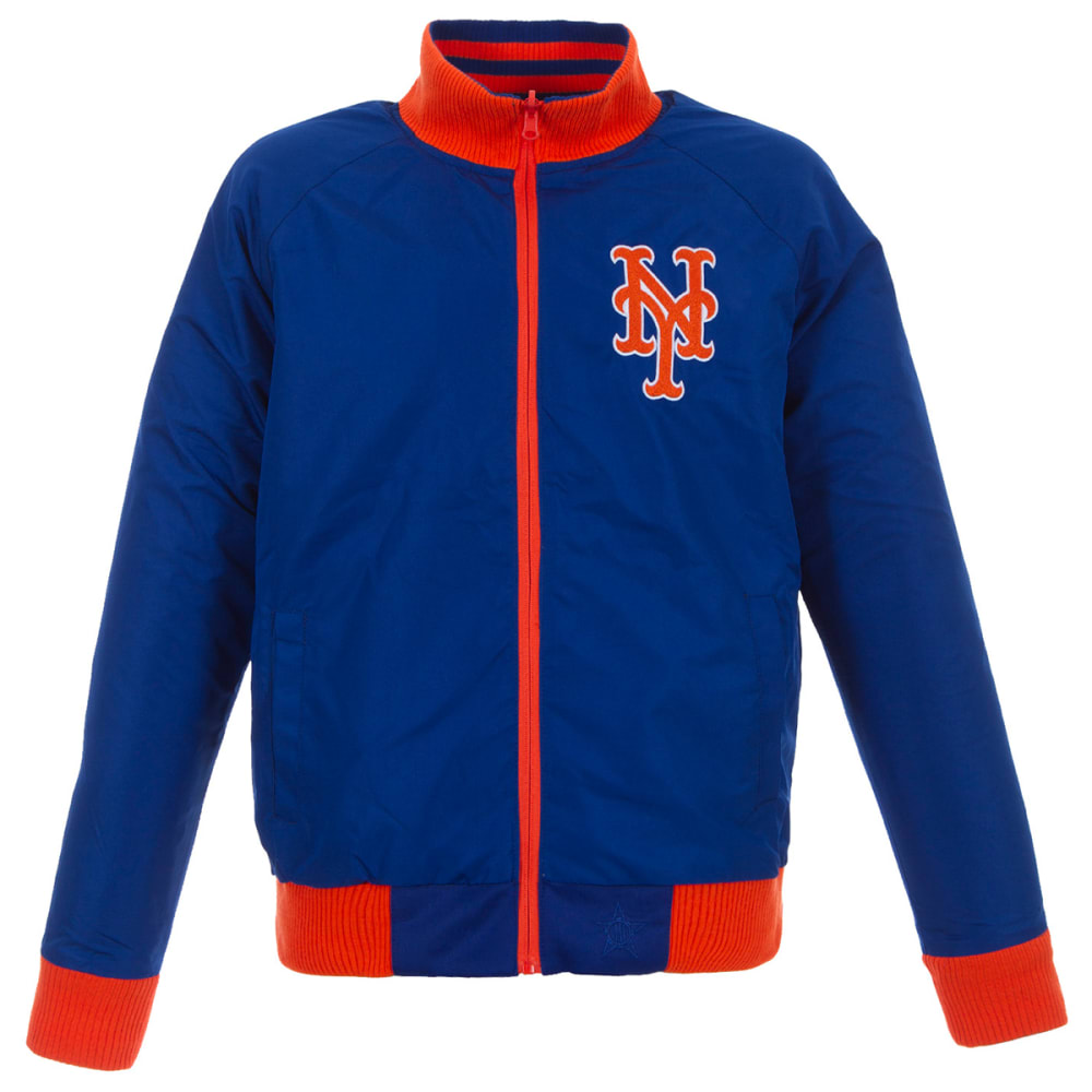 NEW YORK METS Men's Reversible Track Jacket with Embroidered Logo - GREY/ROYAL